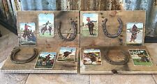 Wall Decorations from Reclaimed Pallets and Vintage Western Doubleday Postcards