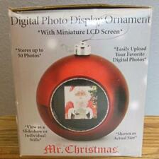 Digital Photo Display Ornament Mr Christmas Red Still in Box Complete 3""