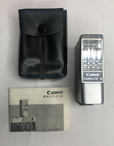 CANON CANOLITE D Auto Electronic Flash W/Manual + Case