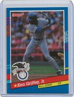 💥1991 Donruss Baseball Card #49 Ken Griffey Jr All-Star Seattle Mariners💎