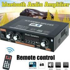 More details for 600w bluetooth stereo audio amplifier car home hifi music usb fm amp 12v/220v eu