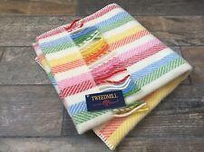Tweedmill Textiles British PURO 100% LANA Rainbow Candy Stripe Baby coperta per carrozzina