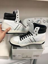 Moncler - Men's White/Navy Hi-Top Sneaker, US size 10/43 EU, BNIB & dustbag