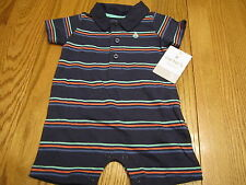 NEW CARTERS INFANT BABY BOYS SIZE 3 MONTHS ONE PIECE ROMPER WITH COLLAR OUTFIT