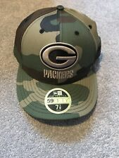NEW ERA. 59Fifty Low Profile Cap - Green Bay Packers. Wood Camo. 7 7/8