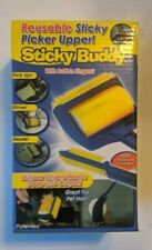 STICKY BUDDY SILICONE ROLLER CLEANER WITH RUBBER BRUSH & CLEAR PROTECTIVE COVER