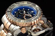 Invicta 70mm Full Sea Hunter III Rose Gold Swiss Movement Two Tone Blue Watch