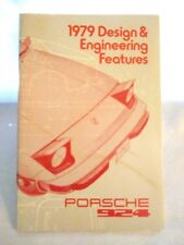 1979 Porsche 924 - DEALER - USA Sales Training Reference Workbook - Manual  RARE