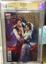 Star Wars #1 CGC 9.8 SS Pichelli Variant, Auto / Signed By Carrie Fisher