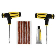 Car Tubeless Tyre Tire Puncture Repair Plug Repairing Kit Needle Patch Fix.