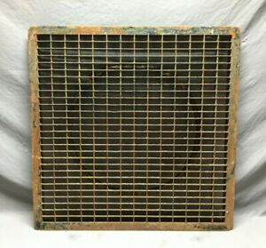 """Vintage 31"""" SQ. Steel Grill Vent Cold Air Return Grate Old Rusty Cover 629-21B"""