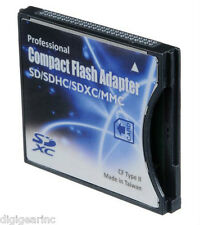 CDA Professional SD/SDHC/MMC/Eye-Fi card to Compact Flash CF Type II Adapter