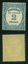 """FRANCE TAXE N° 61  """" TYPOGRAPHIE 2F BLEU 1927-31 """"  NEUF XX SUP"""