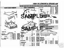 1979 1980 1981 1982 1983 1984 1985 -1991 CADILLAC ELDORADO PARTS CRASH SHEETS +*
