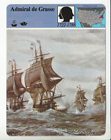 ADMIRAL DE GRASSE French Navy American Revolution STORY OF AMERICA CARD
