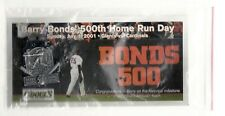 San Francisco Giants Barry Bonds 500 Home Run Stadium Give Away SGA Pin 07/01/01