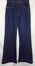 Roberto Just Cavalli Jeans High Waist Wide Leg Dark Blue Stretch Denim size 27