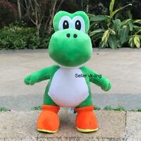 """Super Mario Bros Plush Yoshi 12"""" Cute Green Dragon Cartoon Stuffed Toy Soft Doll"""