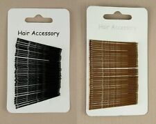 36 Standard 4cm Black or Brown Hair Bobby Pins Grips Clips