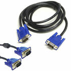 SVGA 1m 2m 3m 5m 10m 15Pin VGA PC Computer Monitor Extension Cable Male Lead UK