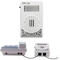 Extra-Loud Phone Telephone Ringer up to 95dB w/ Strobe Light Flasher Bell Ringer