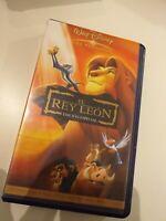 VHS  El REY LEON EDICION ESPECIAL DISNEY  ( coleccionistas )
