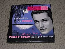 "PERRY COMO (VG) 1949 A Sentimental Date (VG+) 3-7"" 45RPM EP RCA Victor Box Set"