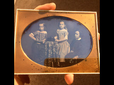 EXCEPTIONAL HALF-PLATE DAGUERREOTYPE of THREE CHILDREN by BECKERS and PIARD NYC