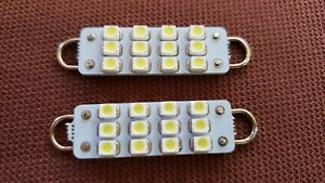 """44mm White LED Bulbs 1.75"""" Interior Dome Map Courtesy Dash Lights Interior Lamps"""