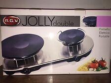 RGV Jolly Double Fornello Elettrico Portatile A Doppia Piastra