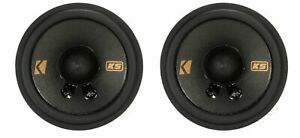 """(2) Kicker KSC2704 2.75"""" Replacement Speakers For 1994-2004 Ford Mustang"""