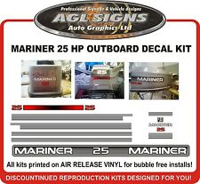 1994 1995 MARINER 25 hp outboard Decals, reproductions