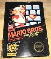SUPER MARIO Bros NES Original BLACK Hang-Tab EMPTY Retail BOX ONLY Nintendo 1985