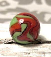"VINTAGE CAC CHRISTENSEN 3 Color Swirl MARBLE 5/8"" .60"" Super Cool Pattern #65"