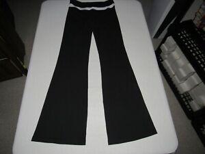 "Lululemon Women's Black Yoga Flare Pants Size 8 Waist 30""-32"" Inseam 36"""