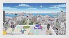 "Thomas Mcknight - ""Panorama Port Island"", Hand-signed serigraph"