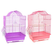 Small Bird Cage Fr Budgie Finch Lovebird Cockatiel Canary Travel Cage 30x23x39CM