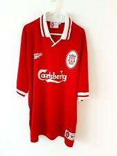 Liverpool Home Shirt 1996. XL. Reebok Red Adults Short Sleeves Football Top Only