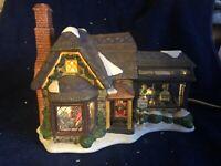 Victorian Village Collectibles Christmas Village ELIZABETH'S FLOWER SHOP '01 EUC