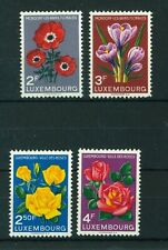 Luxembourg 1956 Flower Festival & Roses full sets of stamps. Mint. Sg 601-604.