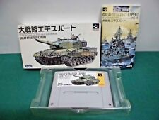 SNES -- GREAT STRATEGY EXPERT -- Boxed. Can save. Japan game. 12797