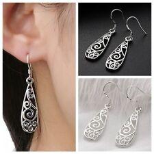 New Women Fashion Jewelry 925 Sterling Silver Plated Small Dangle Drop Earrings