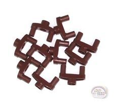 LEGO Technic - 10 x Pin Connector - 3L - w/ 2 Pins & Ctr Hole - Red Brown - New