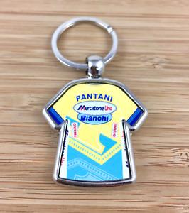 Marco Pantani Mercatone Uno 1998 Cycling Jersey Metal Key Ring Tour de France
