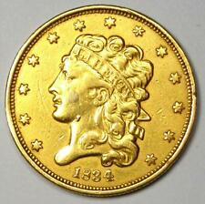 1834 Classic Gold Half Eagle $5 Coin - XF Details (EF) - Rare Type Coin!