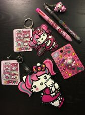 Hello Kitty Japanimation Kawaii Maid Luggage Tag Keychain Pen Etc Sanrio LOT NEW
