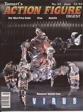 TOMART'S ACTION FIGURE Digest #53 June 1998 Star Wars Price Guide Virus Godzilla
