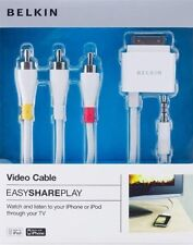 Belkin Audio/Video & Sync/Charge Cable for iPod/iPhone watch & listenTV F8Z361