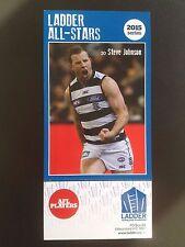 2015 Ladder AFL All Star Card Steve Johnson Geelong Cats