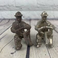 Pair of Vintage Original Metal Cast Iron Drivers/Farmers For Truck Or Tractor
